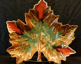 Dryden Pottery Maple Leaf Dish