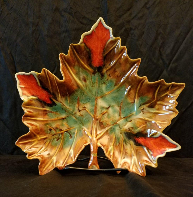 Dryden Pottery Maple Leaf Dish