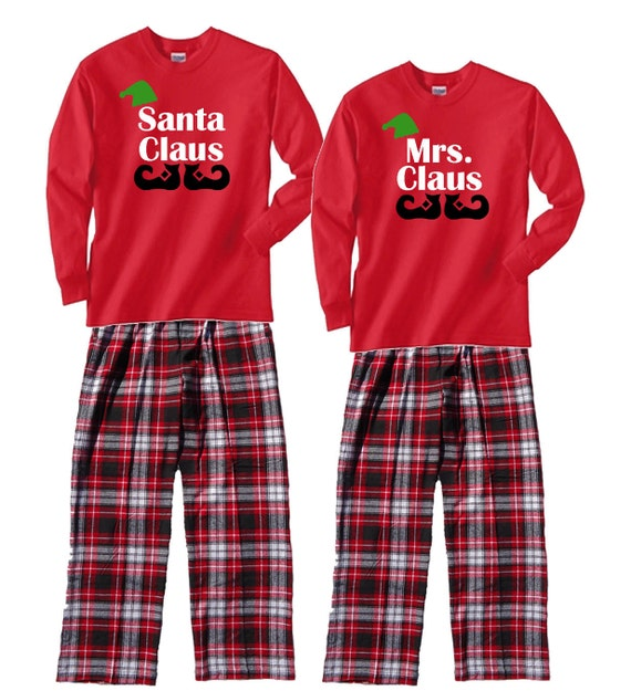 Family Christmas Pajamas Santa Claus & Mrs. Claus
