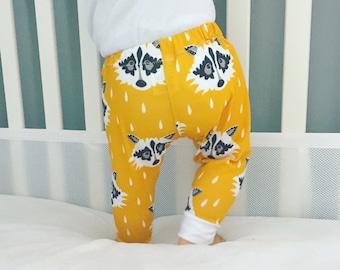 Handmade Baby Leggings - Raccoon Print Leggings - Fall Autumn Harvest Baby Leggings - Boy Leggings- Girl Leggings - Toddler Leggings - Puppy