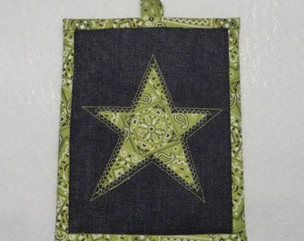 Texas Star Pot Holder, TX Star Potholder, Texas Star Hot Pad, Texas Star