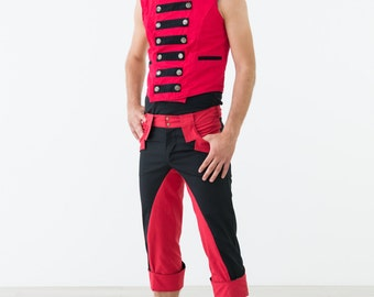 Black & Red Reversible Vest - Strong Statement