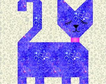 Patch Cat quilt block pattern