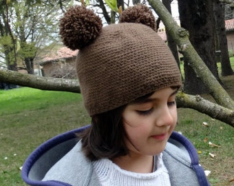 Brown Teddy Bear Hat