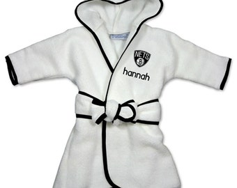Personalized Brooklyn Nets Infant Robe