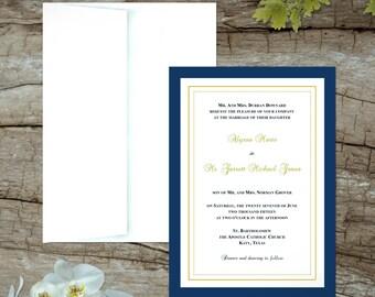 Simple, Crisp, Elegant Wedding Inivitations
