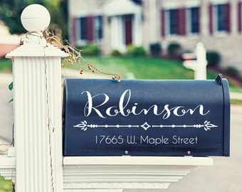 Mailbox Address Decal