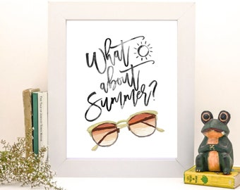 Summer Typography, Summer Art, Typography Poster, Typography Print, Summer Poster, Summer Decor, Printable Wall Art, Wall Decor, Gift, Art