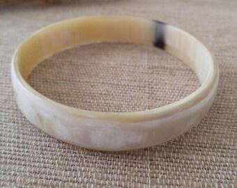 Marilyn Buffalo Horn Bangle Bracelet, organic jewelry, buffalo horn jewelry, horn jewelry, water buffalo horn
