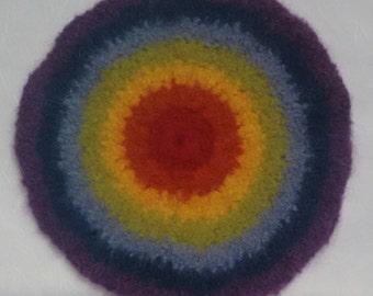 Rainbow felt circle