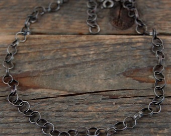 SALE 15% off !! - use the coupon code: SALE15 silver chain necklace, metalsmith chain necklace, handcrafted handmade chain