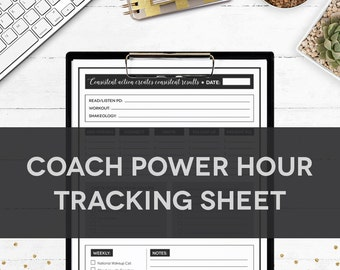 Health Coach Power Hour Tracking SHEET
