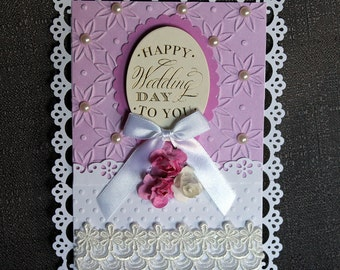 Handmade Wedding Card #123