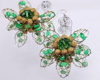 Charming crystal earrings   handmade   crystal