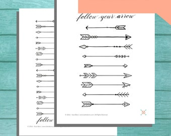 PRINTABLE Follow Your Arrow Coloring Pages
