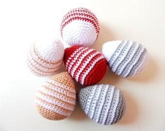 Pack of 2 crochet Easter eggs