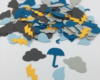 Rainy Day Confetti / Cloud Confetti / Umbrella Confetti / Rain Confetti