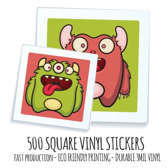 Custom Square Stickers Custom Matte Stickers Custom Glossy - Custom stickers eco friendly