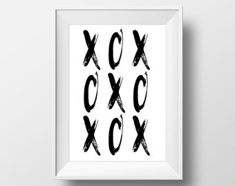XO art printable