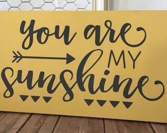 You are My Sunshine Wood Sign Home Decor Nursery Decor Wall Art