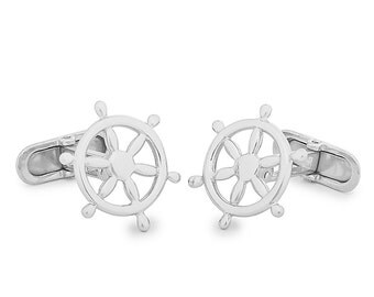 Rudder sterling Silver Cufflinks