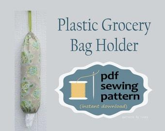 Plastic Bag Holder, Grocery Bag Holder, PDF sewing pattern, Beginners Sewing Pattern, Easy Sewing Pattern, Sewing for Beginners