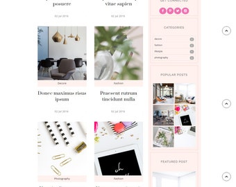 Installation Included - Premade Blogger Template responsive lifestyle fashion beauty food feminine blog theme - Arianna (FREE Installation)