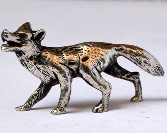 Old Wolf Silver 925 Collection old figure Wolf in Silver 925 collection