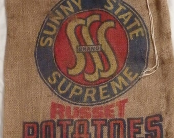 Potato burlap sack