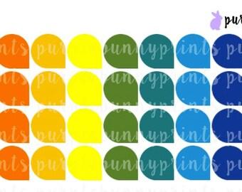 Rainbow Teardrop Labels // Planner Stickers!