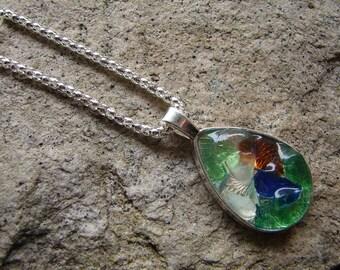 Ocean Beach Sea Glass Pendant Necklace Handmade Sea Glass Pendant Necklace Glass Pendant One of a Kind Jewelry Unique Glass Pendant