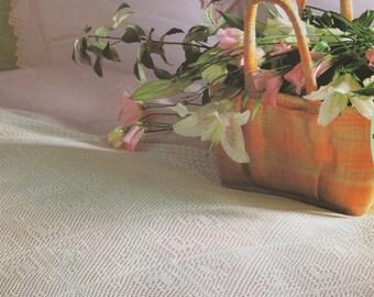 Bedspread Cover PDF Crochet Pattern : Heart Motif . Afghan / Blanket / Throw . Instant Digital Download