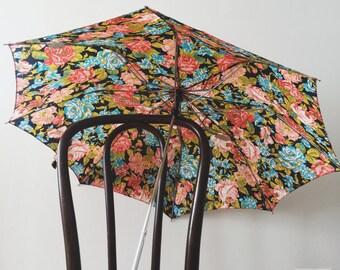 80's Chromatics Floral Umbrella