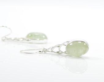 Aquamarine Earrings - Dangling Earrings - Silver Earrings - Dangle Earrings - Drop Earrings - Aquamarine Jewelry - March Birthstone Earrings