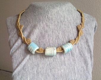 Ceramic raku necklace
