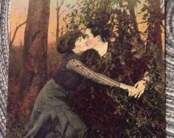 Early 1900 postcard romance vintage antique