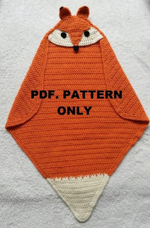Fox Hooded Wrap Blanket Crochet Pattern