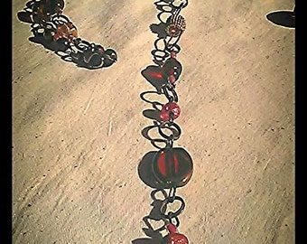 CITRINE, ROSE QUARTZ ,Sunstone, Skull Necklace