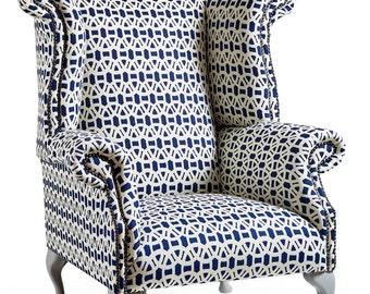 Queen Anne Wingback Chair