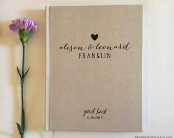 Wedding Guest Book, Custom Guestbook, Personalized Wedding Guest Book, 8x10 Rustic Guestbook Keepsake