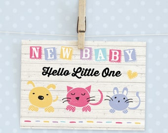 New Baby Card, Greeting Card, Baby Shower Card, Baby Congratulations, Cute Card, New Baby Congrats, Little One card, Greetings Card