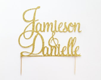 Personalized Wedding Cake Topper, Custom Wedding Cake Topper in any color