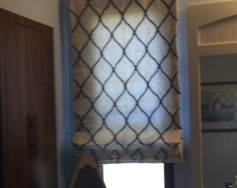 Custom window treatment, roman shade, valance, toppers, window decor, home decor, curtains, blinds, privacy