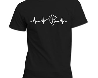 Basset Hound heartbeat | Unisex Shirt | Dog lovers gift idea | Basset | Heartbeat design | Parcel WILL NOT arrive in time for Xmas
