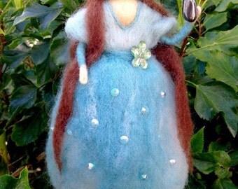 Goddess of Avalon for Altar - turquoise