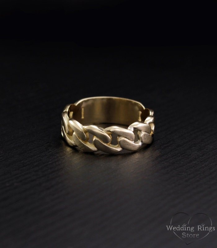 Wedding Ring On Chain Boy Or Girl: Chain Wedding Band Unique Wedding Ring Chain Ring Mens