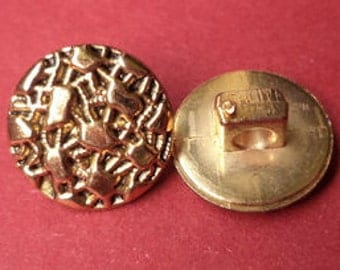 10 small buttons gold 12mm (4170) button