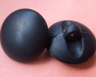10 black buttons 16mm (5906) button