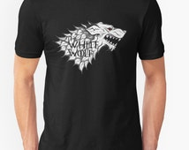 The White Wolf || King of the North Shirt Game of Thrones T Shirt / Unisex Soft Tee / Wolf / Dire wolf/ Stark / Jon Snow / Ghost/ Gift