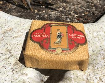 Pompeia L.T.Piver Paris France SOAP Rare Vintage old, 100gr
